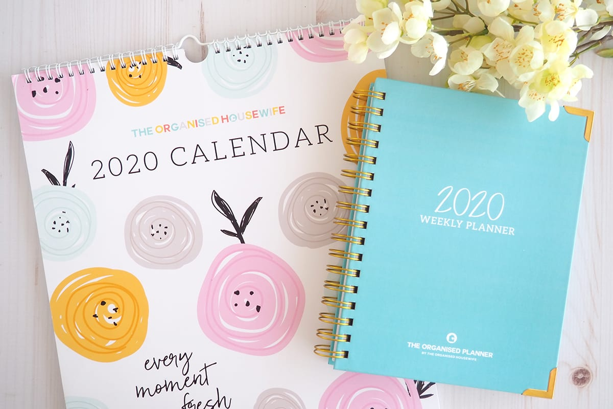 2020 Wall Calendar and Weekly Planner by The Organised Housewife