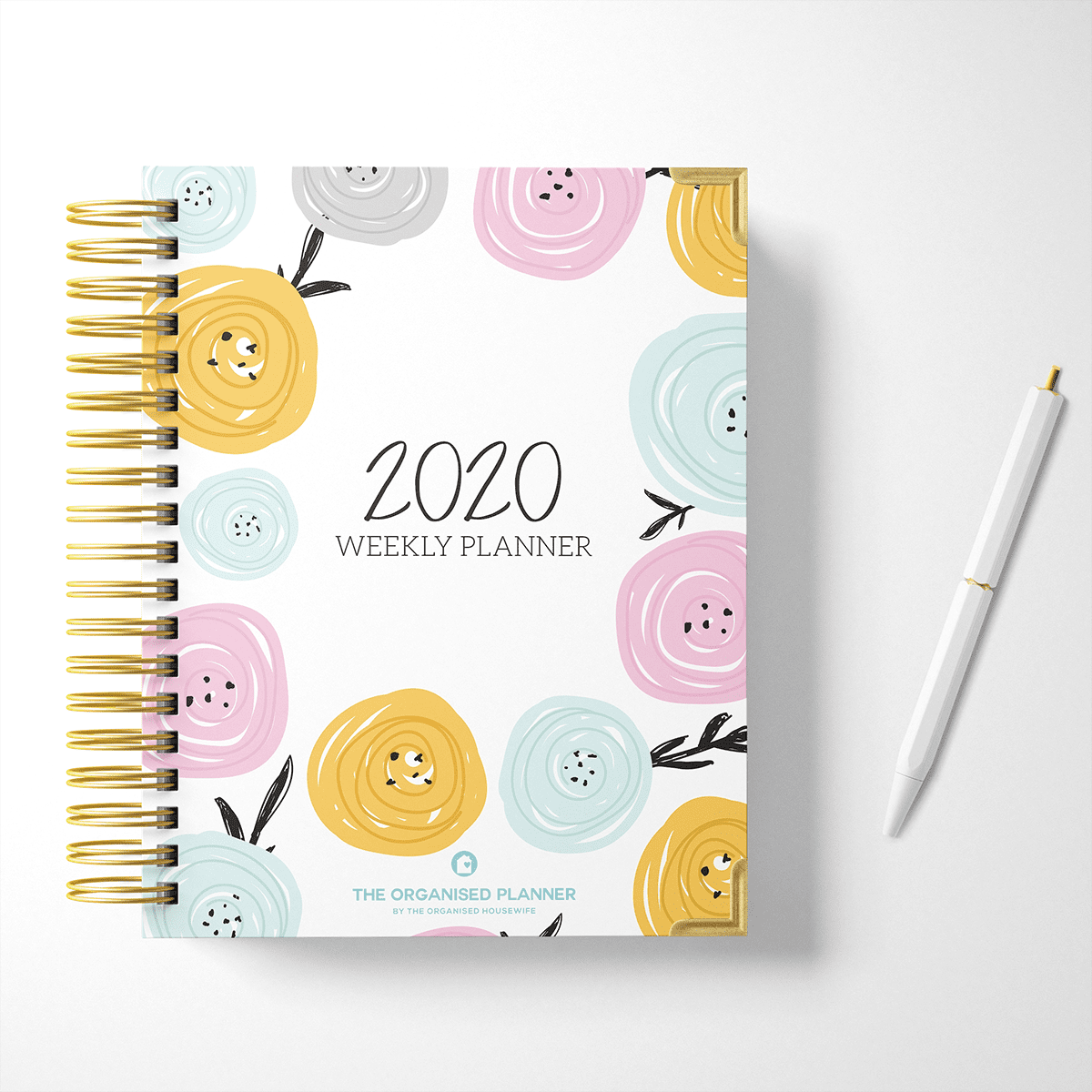 Pretty cover 2020 Yearly Weekly Planner Diary