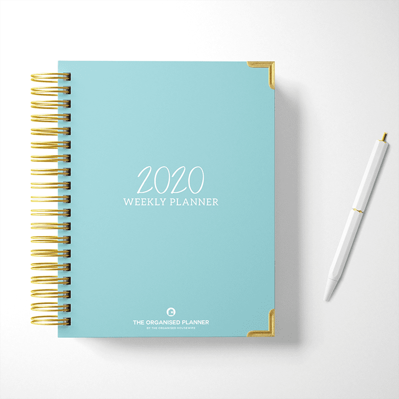 Signature The Organised Housewife Teal Weekly Planner cover 2020