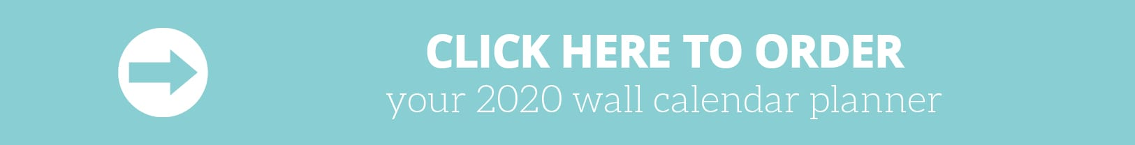 Order 2020 Wall Calendar planner by The Organised Housewife
