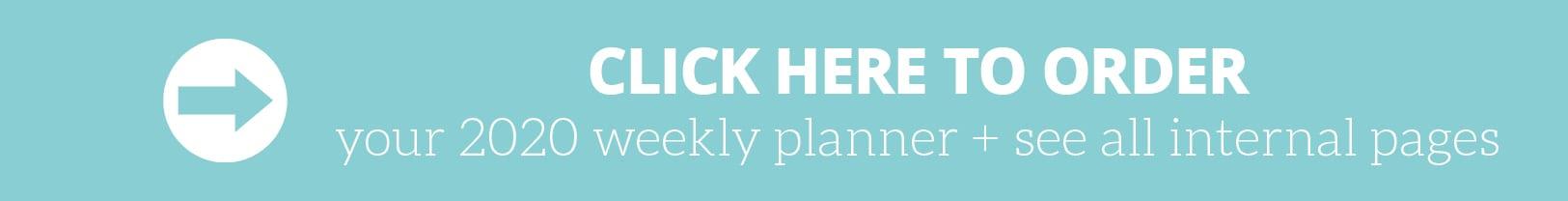 Order 2020 Weekly Planner by Organised Housewife