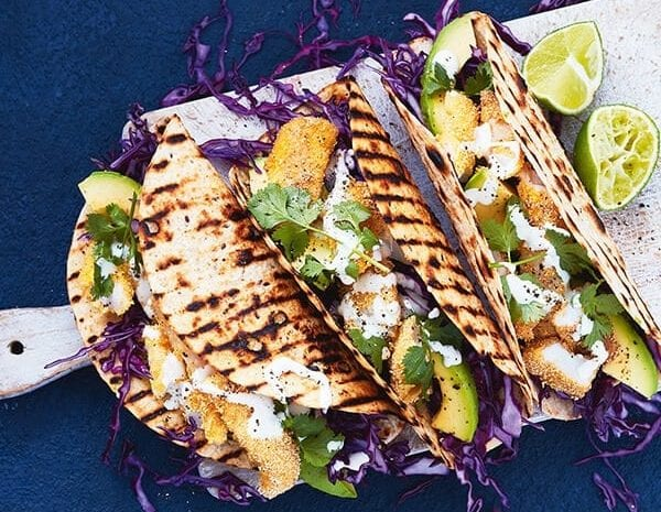Crispy Fish Tacos with Avocado busy night meal idea