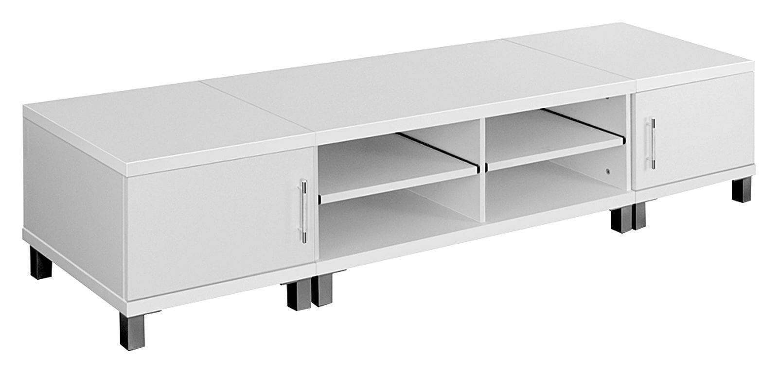 Contemporary and adjustable TV cabinet