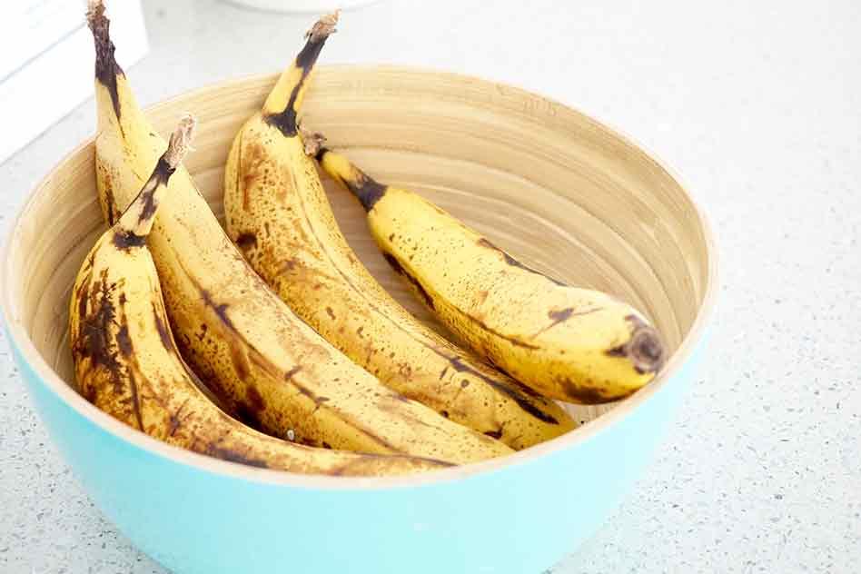 Overripe bananas perfect for cake recipe