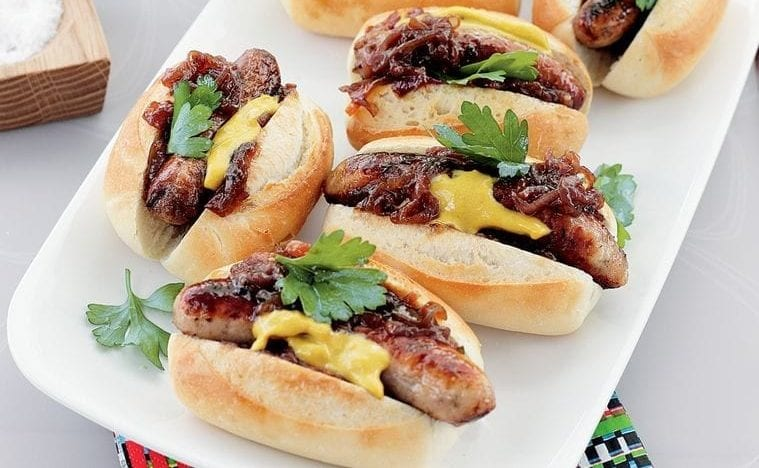 sausages on bread easy dinner for busy week meal plan