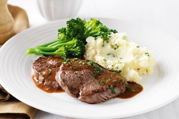 Steak and three veg for meal planning dinner idea