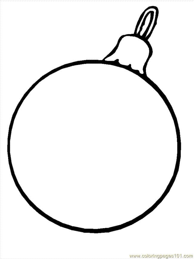 Christmas bauble decoration printable colouring in page