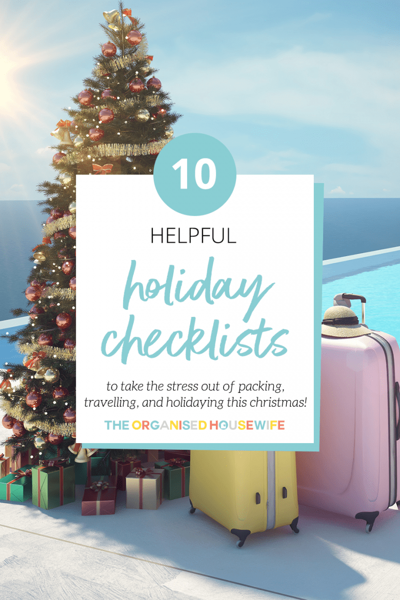 Holiday checklist to help you pack and prepare for holidays