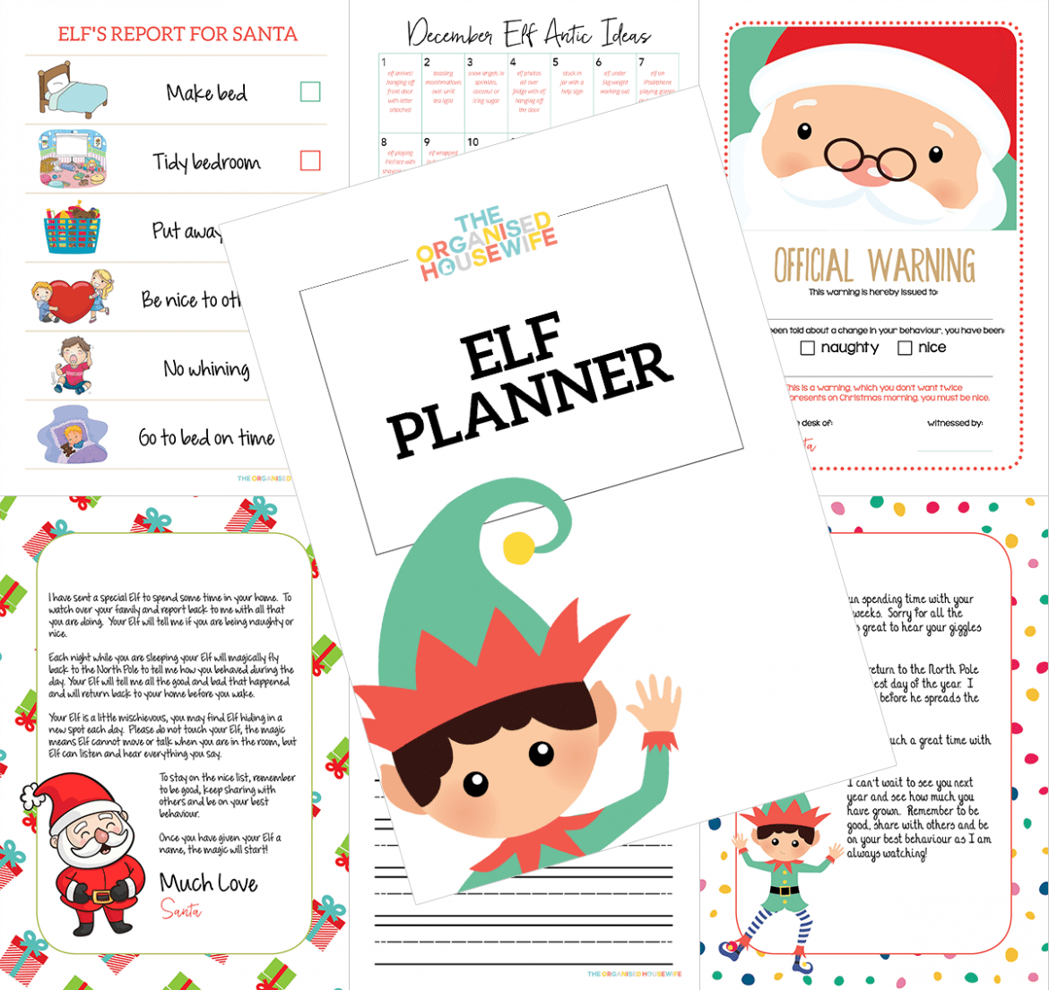 The Organised Housewife Elf Planner for Elf on the Shelf