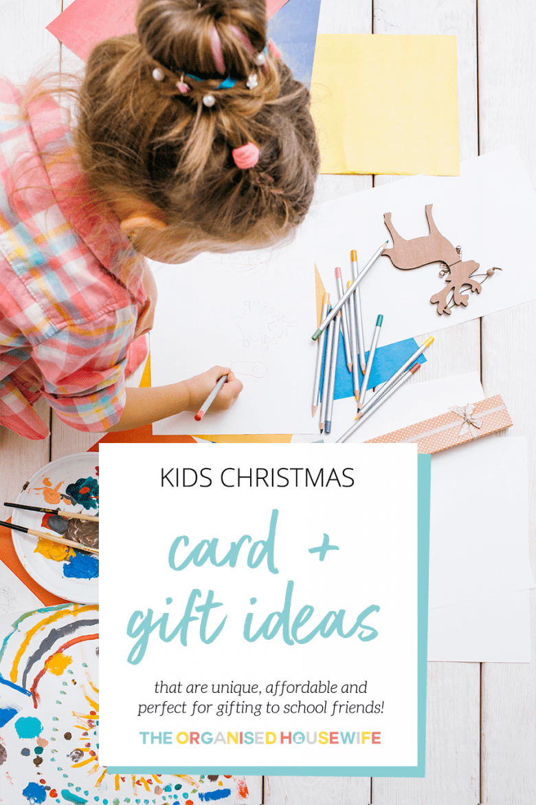 kids Christmas card and gift ideas for school friends