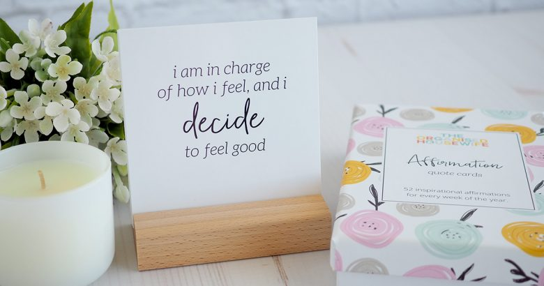 positive uplifting affirmation quote cards