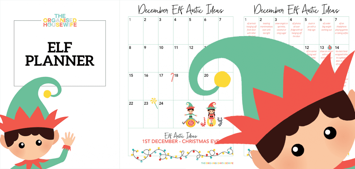 Elf on the Shelf Planner by The Organised Housewife