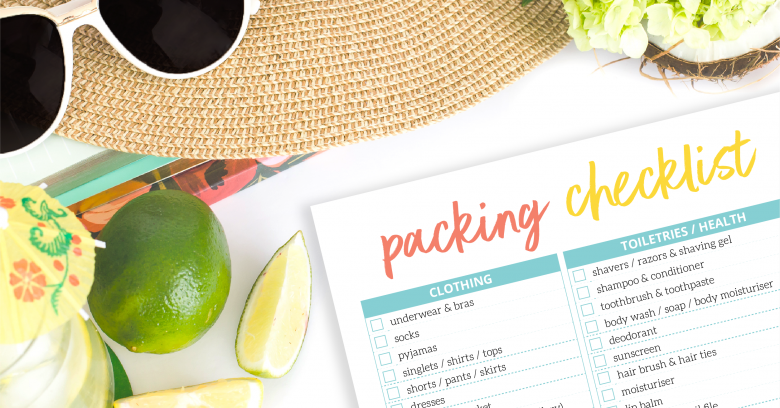 Packing checklist printable download for holiday preparation
