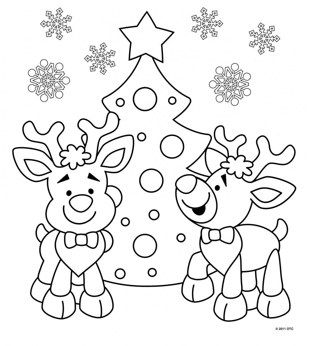 Printable Christmas Coloring Pages - Mr Printables | 1170x1047