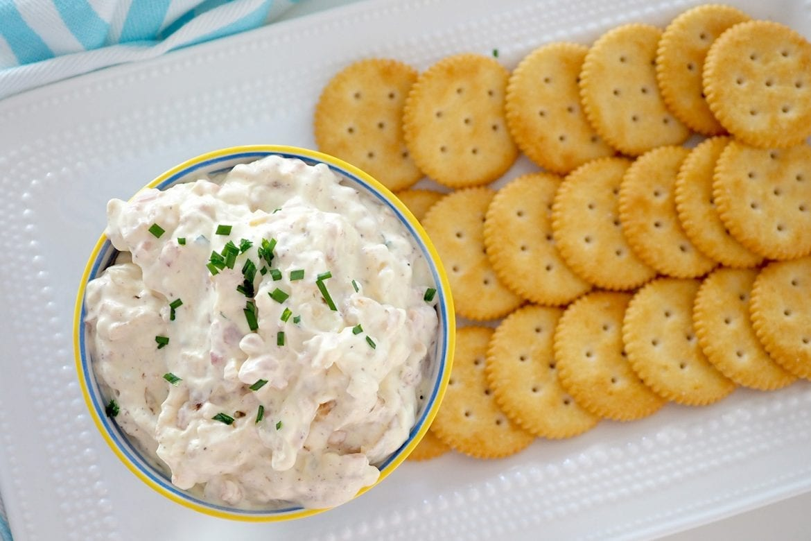 Bacon and Onion Dip recipe