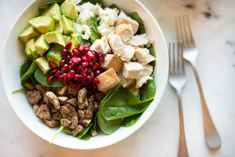 Turkey salad with cranberry
