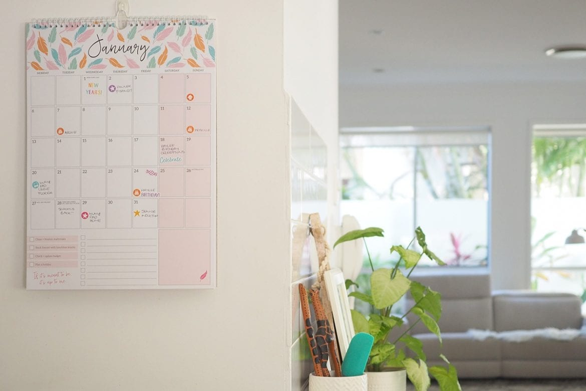 The Organised Housewife wall calendar