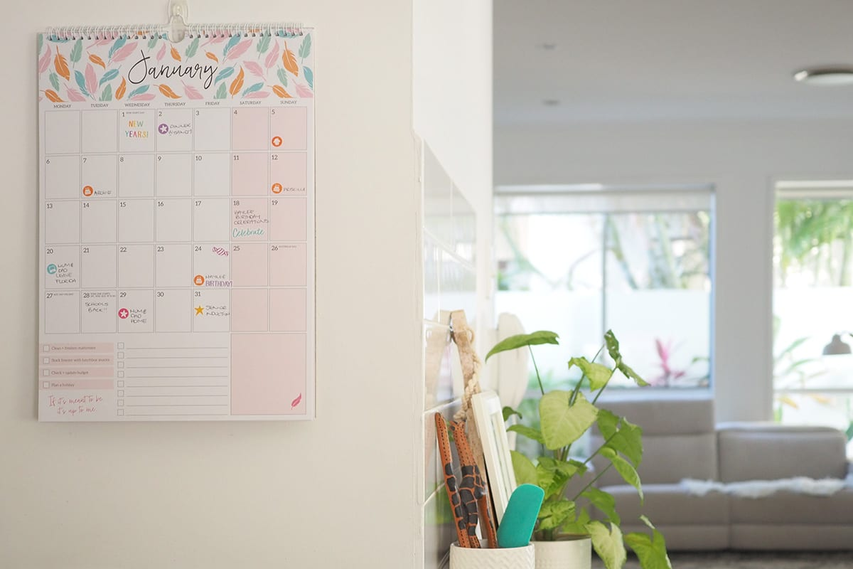 get organised with The Organised Housewife calendar