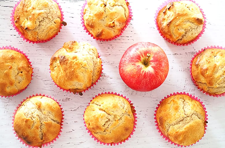 Apple muffin recipe for school lunch boxes