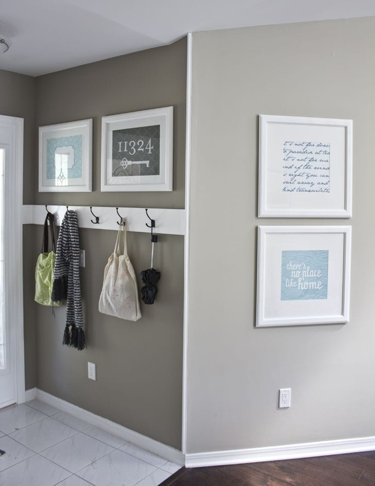entryway storage hooks for school items