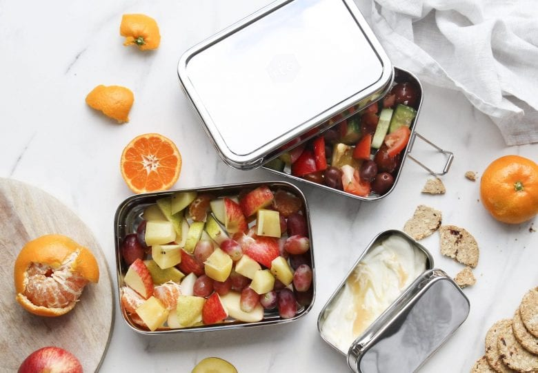 stainless steel lunchbox for fruit salad