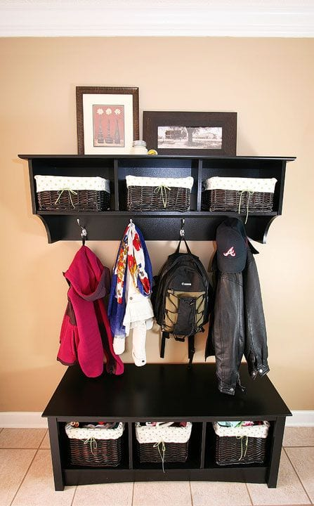 space saving storage ideas for school bags