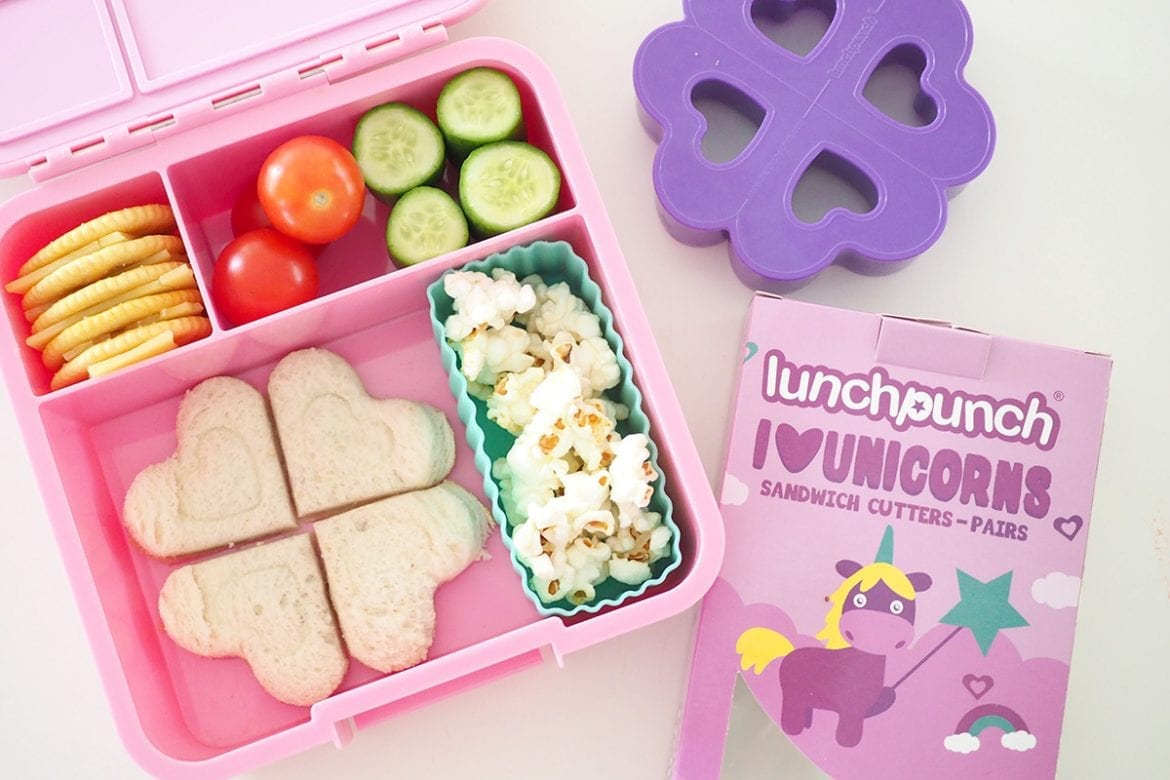 Pink lunchbox bento style by little lunchbox co