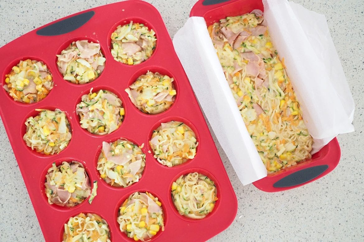 Baked muffin bites for school lunchbox