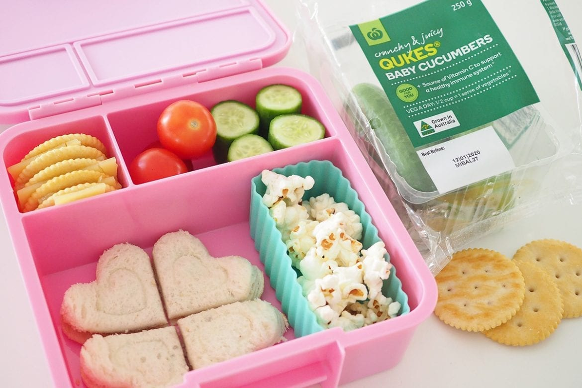Bento lunchbox for easy school lunch variety
