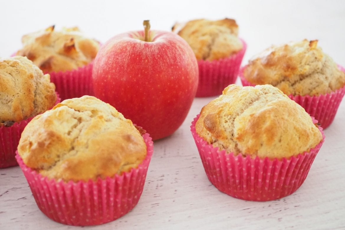 Healthy lunchbox apple muffin snack recipe