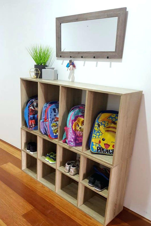 school bag storage shelves