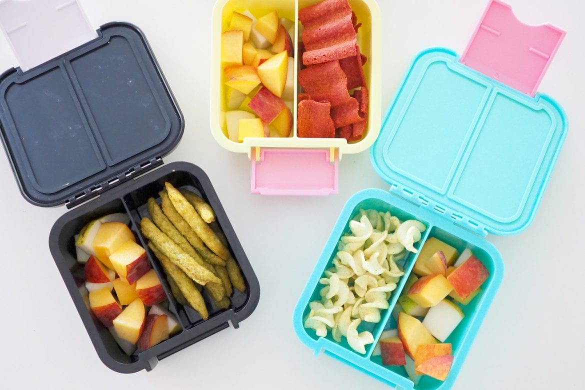 Ready made lunch box snacks from the supermarket