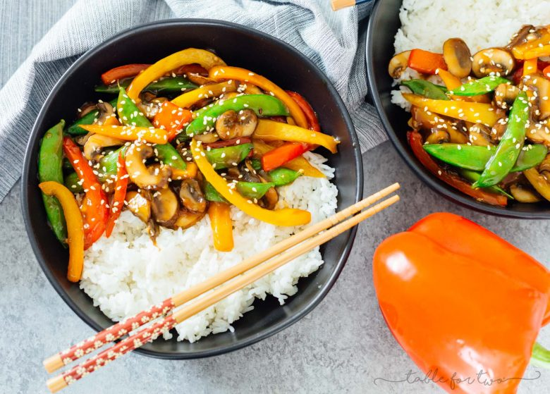 quick 20 minute vegetable stir fry recipe