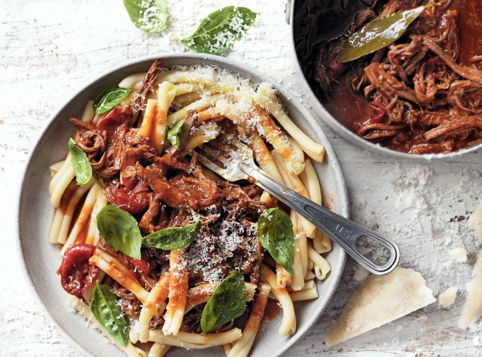 Slow cooked beef ragu pasta recipe