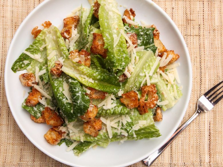 Easy quick caesar salad for meal planning