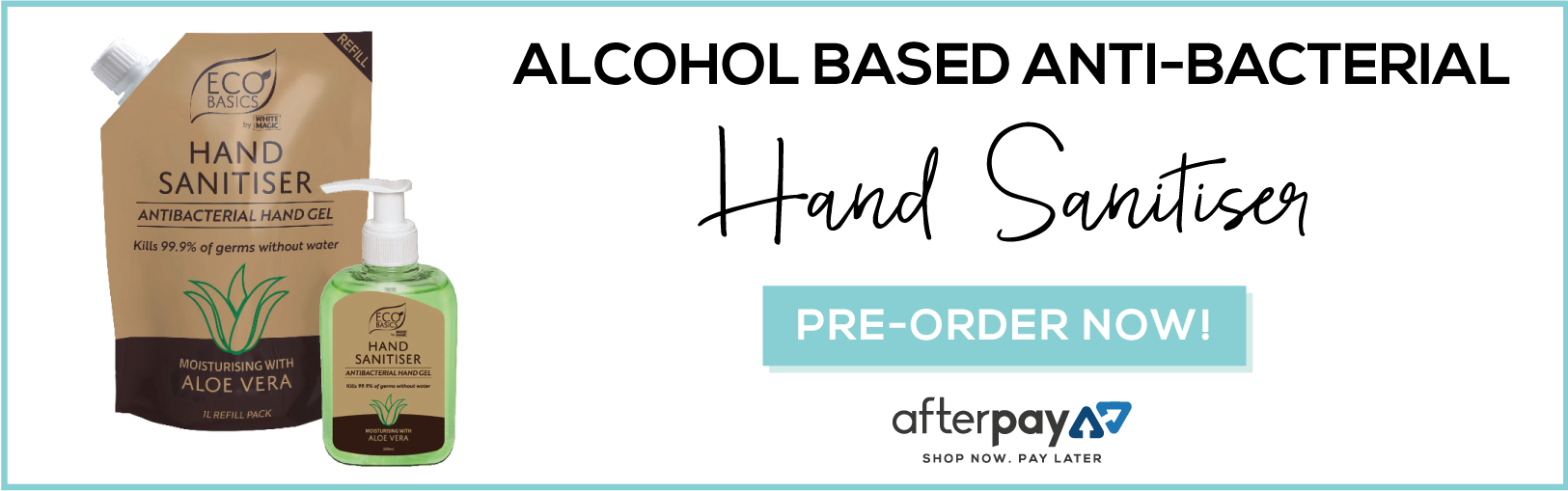 alcohol based anti-bacterial hand sanitiser