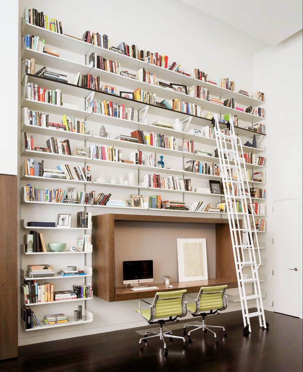 Wall book shelf for home office