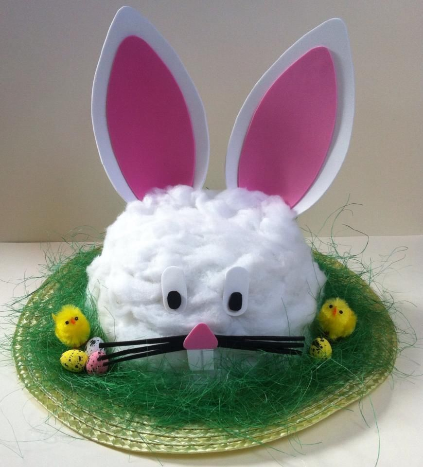Easter bunny head hat for Easter hat parade