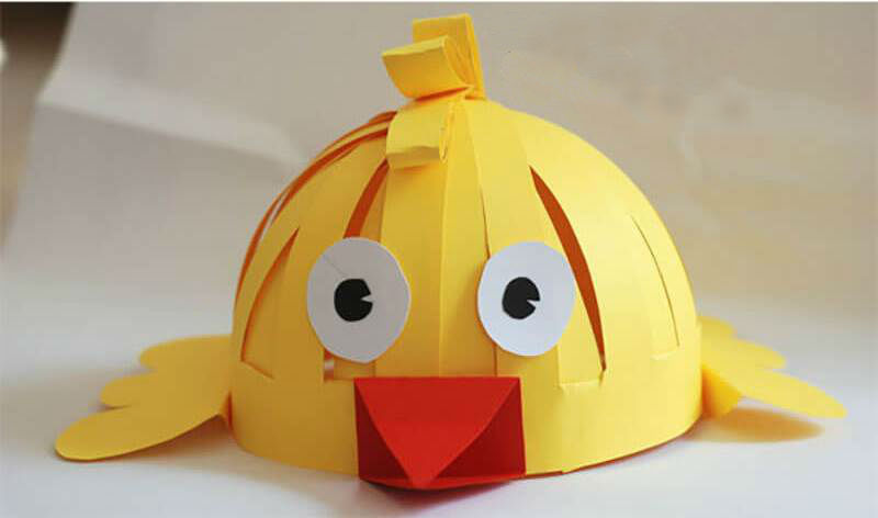 Quirky fun Easter chicken hat for parade
