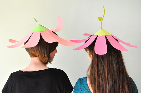 Easy upside down flower hat for easter parade