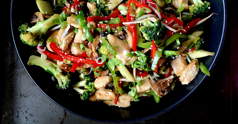 Quick chicken stir fry recipe for busy parent meal planning