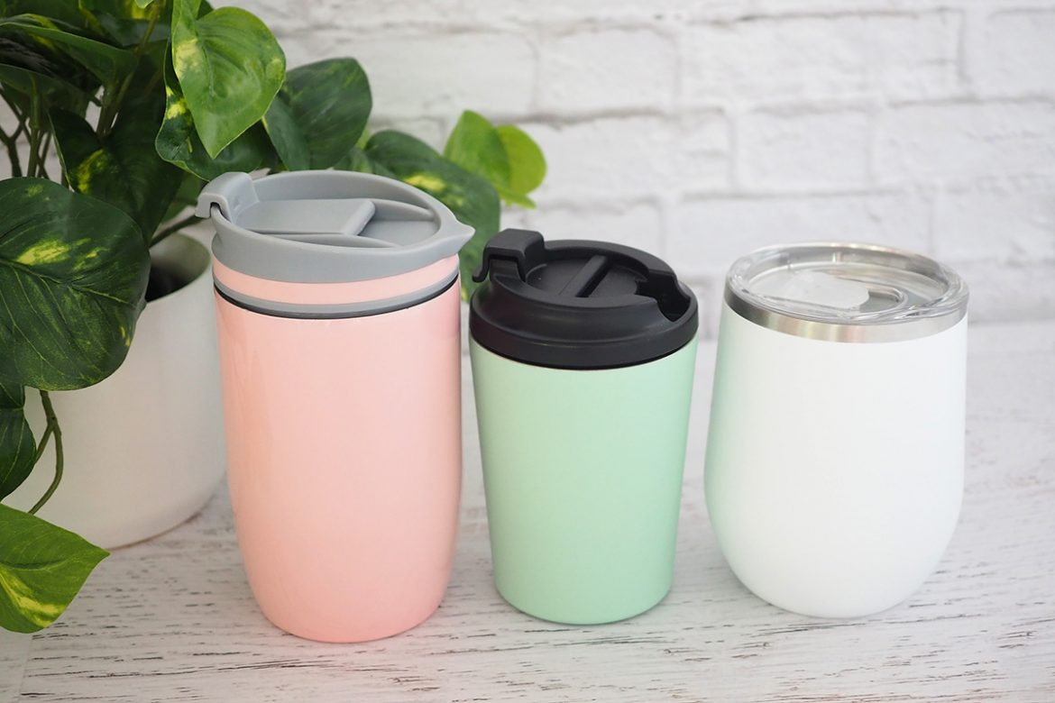 travel reusable coffee and tea cups and mugs