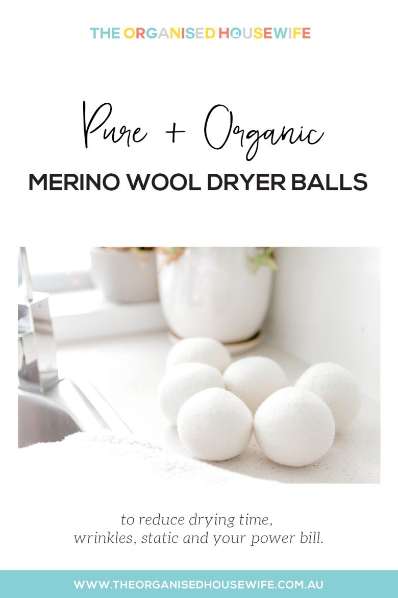 Pure organic merino wool dryer balls