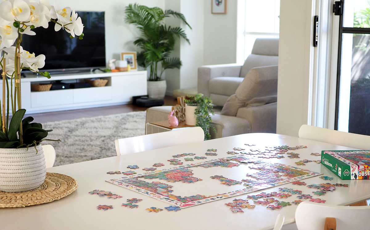 Keep kids busy jigsaw puzzle when sick
