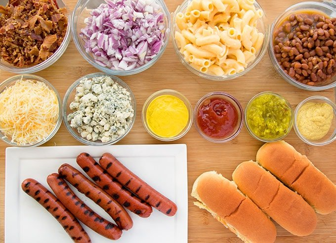 Hot dog dinner idea