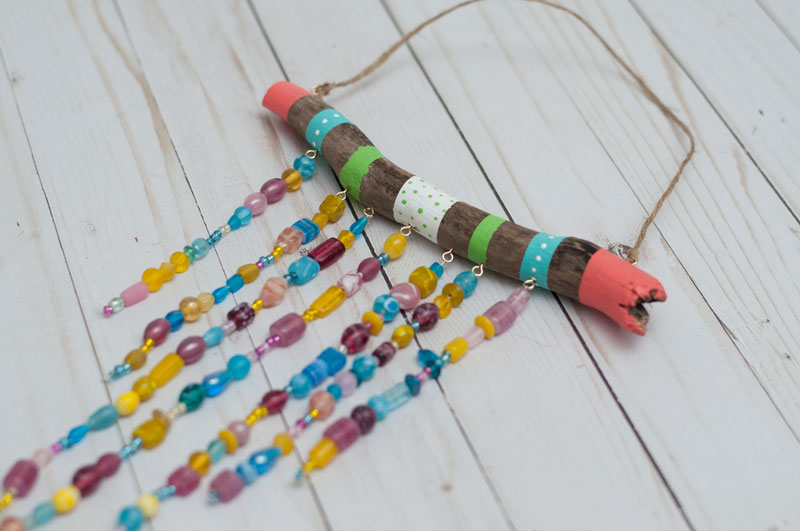 beaded wind chime craft for kids