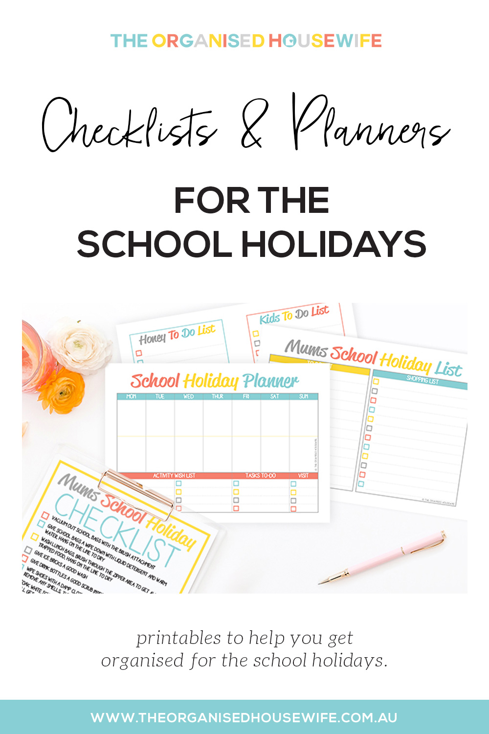 Checklists and planners for the school holidays