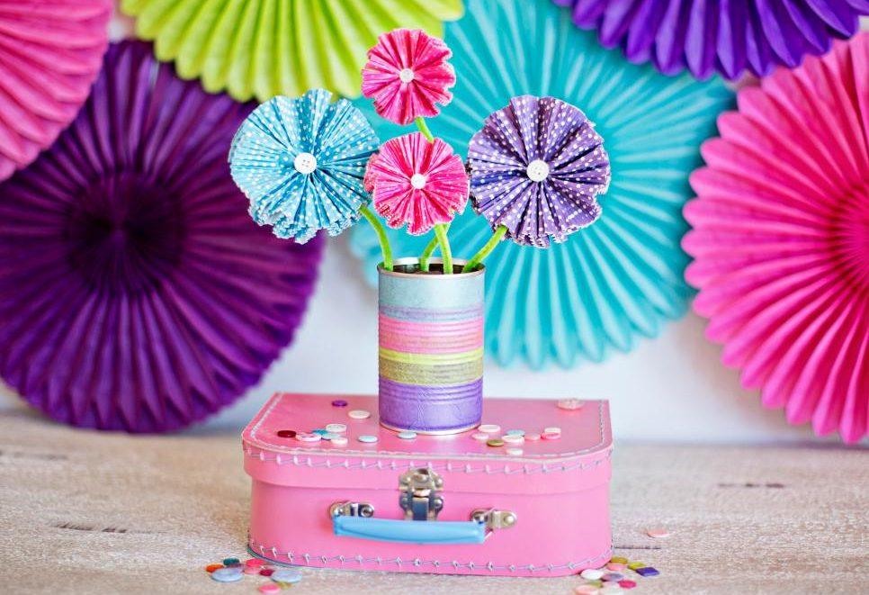 Homemade DIY cupcake flowers