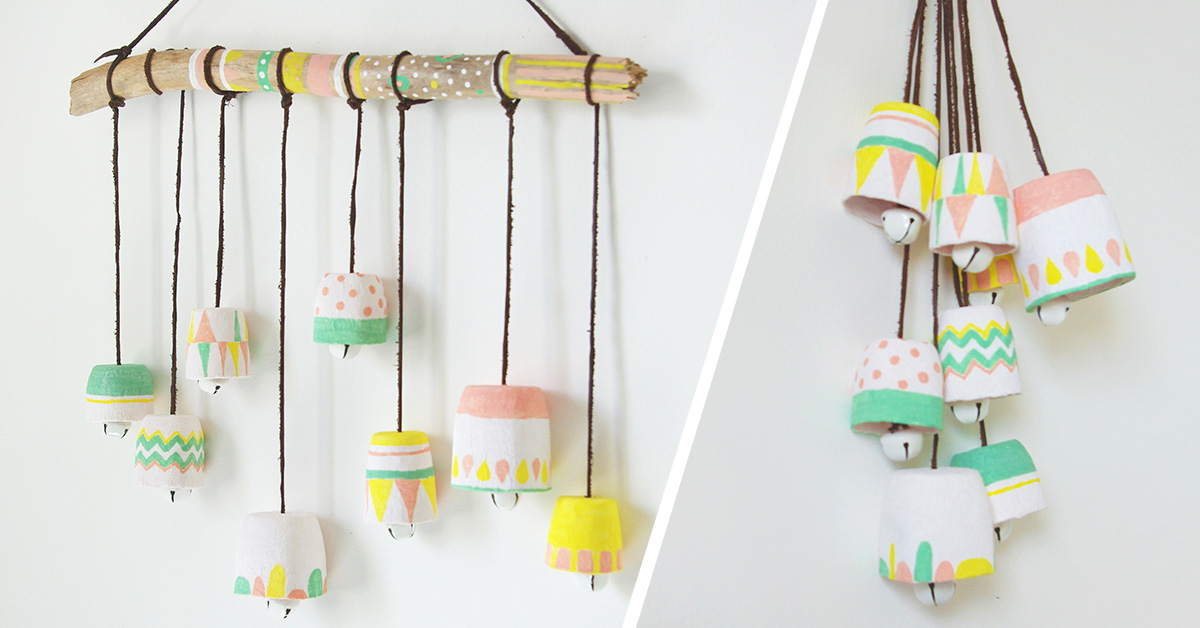 Homemade wind chime craft for kids