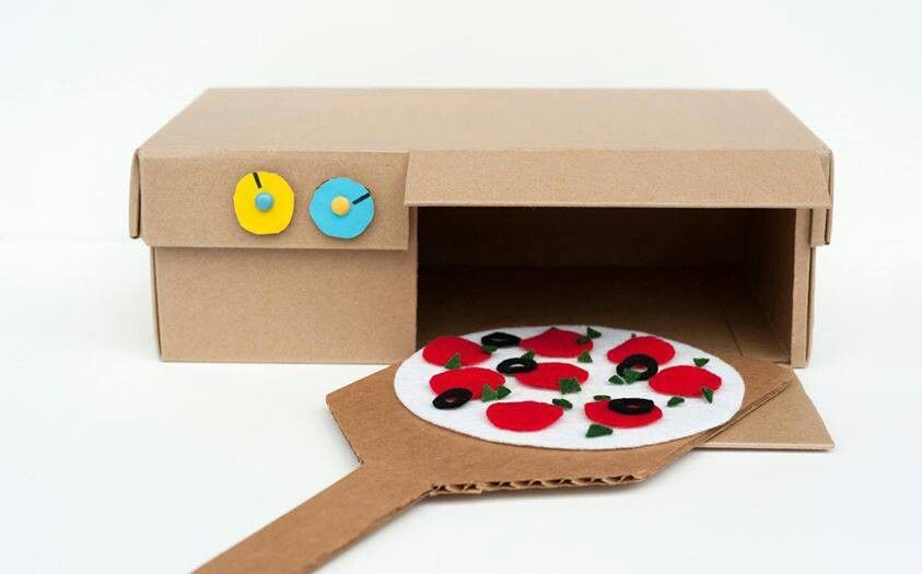 Play food craft idea with shoe box